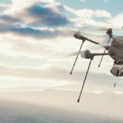 Квадрокоптер-шпион с принципом воздушного змея.