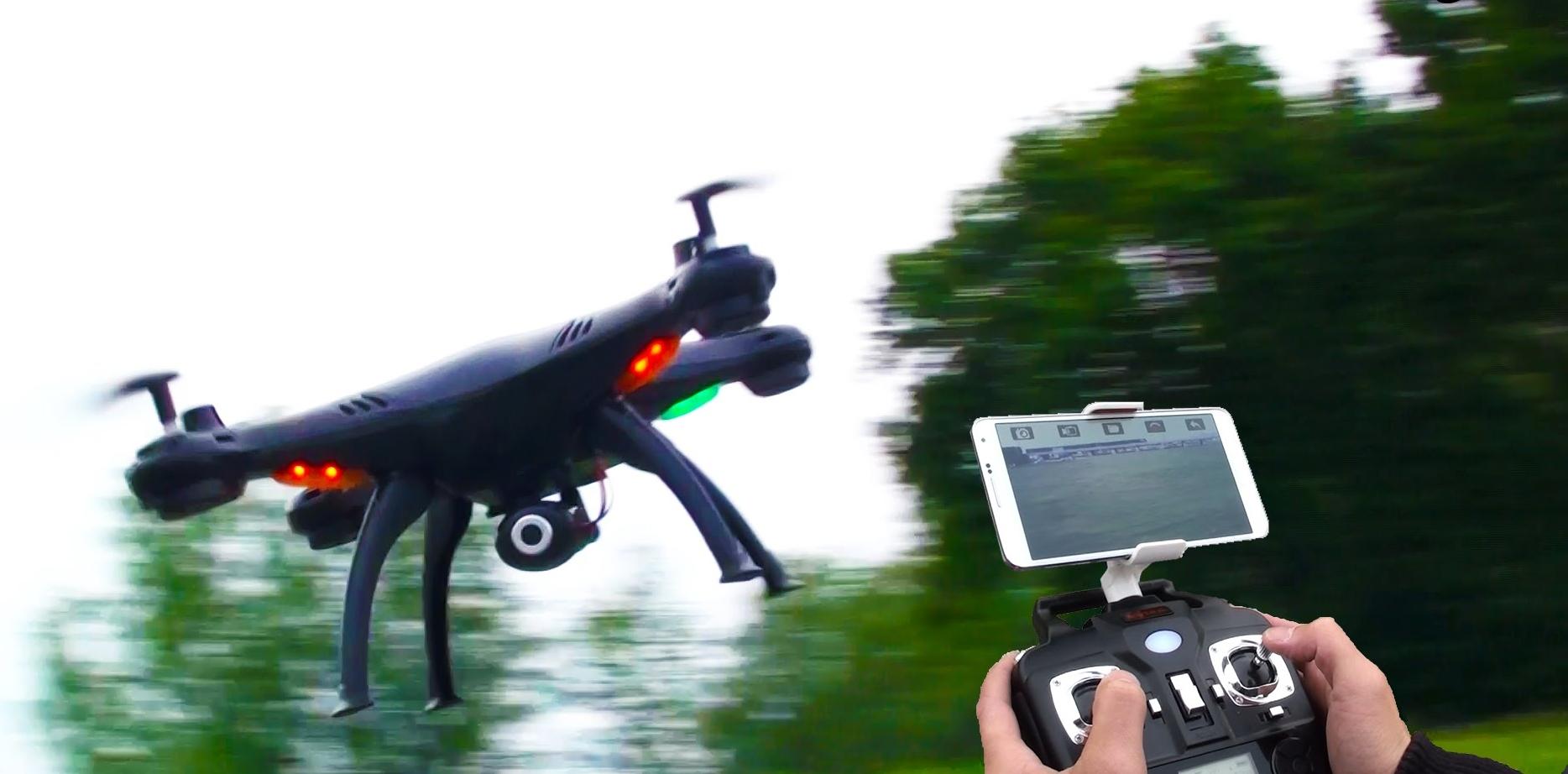 Обзор квадрокоптера syma x5sw c fpv камерой