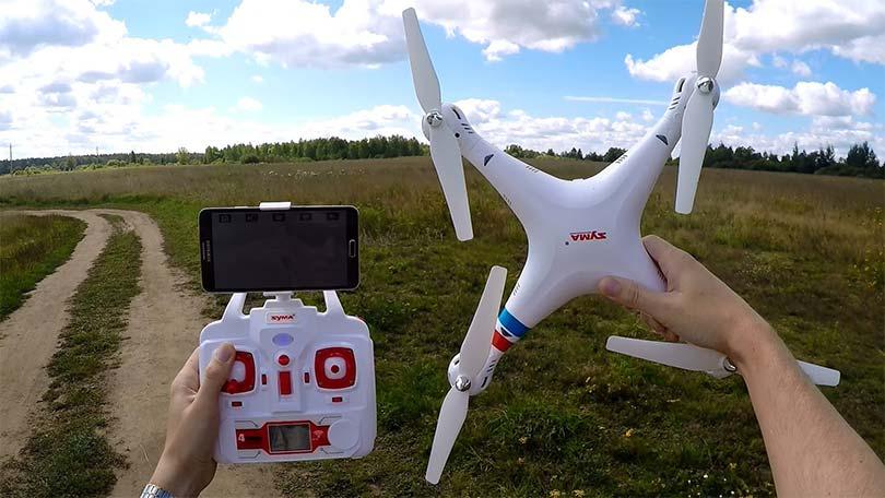 Готовый к полету квадрокоптер Syma X5W