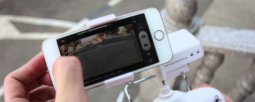 Квадрокоптер управляется человеком через телефон