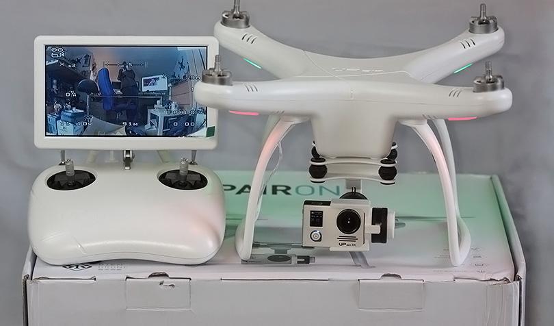 Изображение камеры UP Air UPair-Chase 5.8G FPV 1080P на интегрированном дисплее