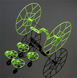 Легкие защитные колеса для Чирсона не дадут коптеру разбиться, к тому же интересно понаблюдать за тем как дрон ездит на этих колесах