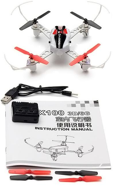 В комплекте XK X100 With 3D есть все необходимое для быстрого полета