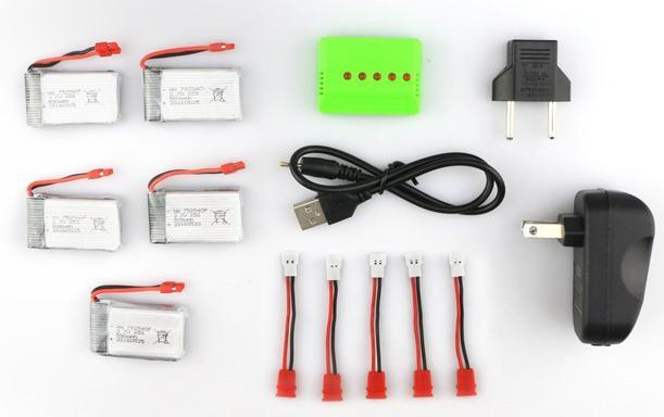 Комплект запасных аккумуляторов на Syma X5HC позволит больше времени проводить в игре