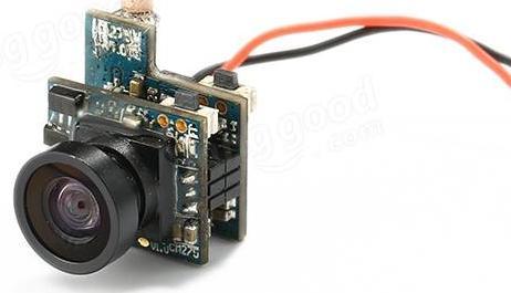 Видеокамера на EACHINE TINY QX90 PARTS хрупкая и очень сложная в конструкции