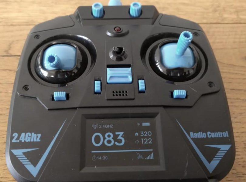 Пульт управления Eachine E5C отлично сочетается с раскраской самого дрона