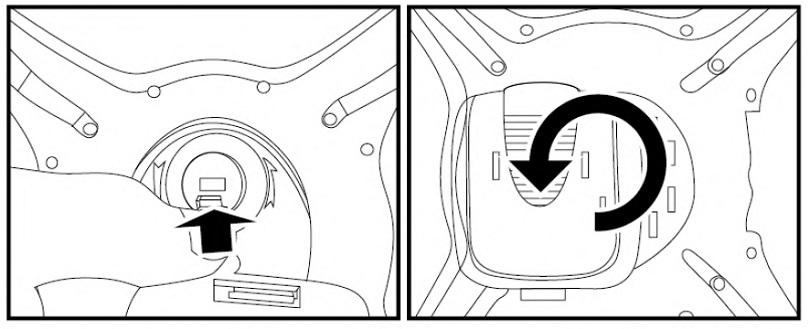 Инструкция для квадрокоптера Syma X5UW описывает процесс установки крепления для смартфона