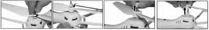 Инструкция для квадрокоптера Syma X8C описывает работу с пропеллером
